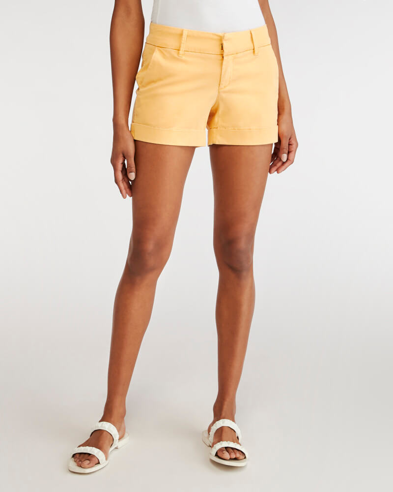 Wantable Style Edit Unboxing & Try On: July 2020 featured by top Seattle lifestyle blogger, Marcie in Mommyland: image of Hampton Short in Canary Yellow