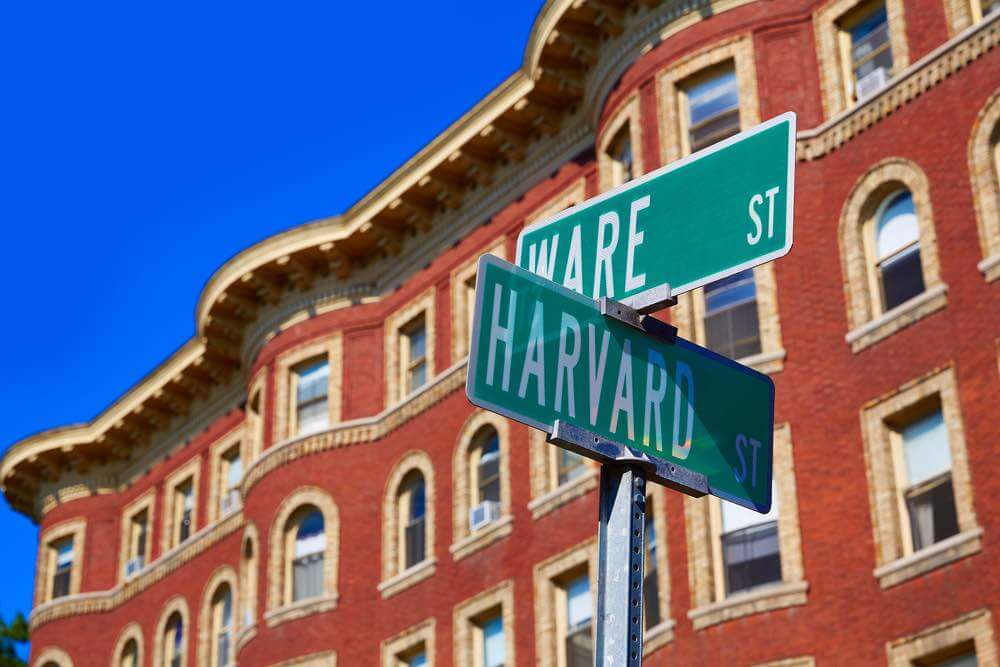 Top 7 Day Trips from Boston featured by top US travel blogger, Marcie in Mommyland: Harvard street st in Cambridge Massachusetts USA