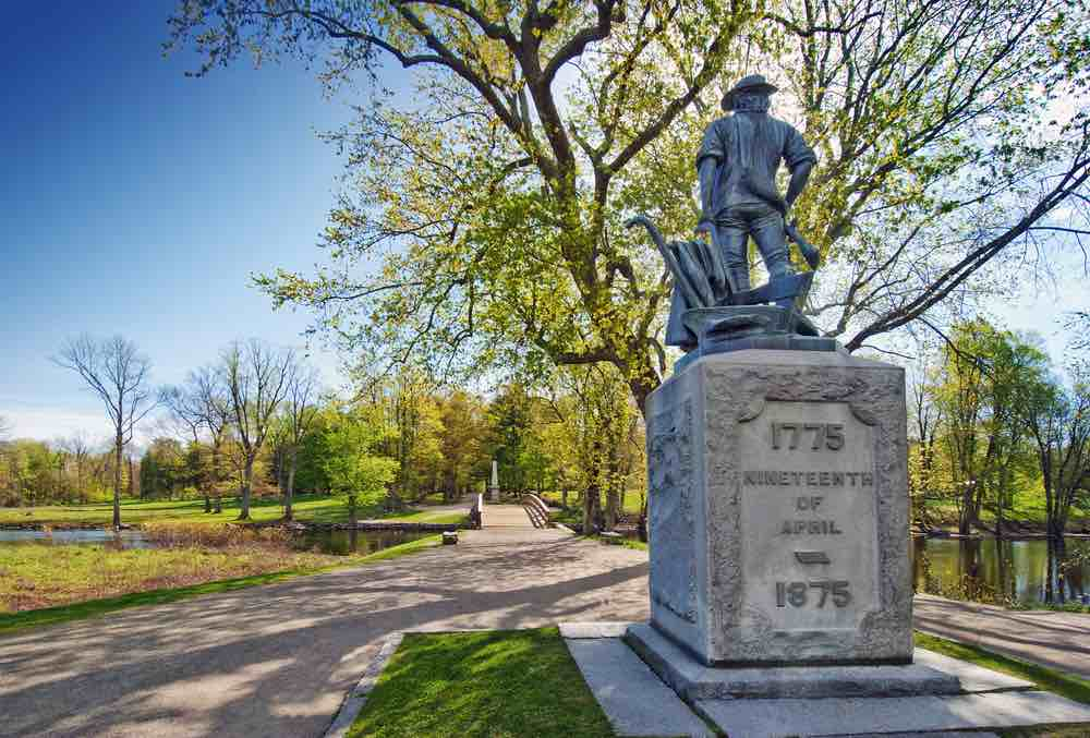 Top 7 Day Trips from Boston featured by top US travel blogger, Marcie in Mommyland: Minuteman Statue in Concord Massachusetts, which is a popular day trip from Boston