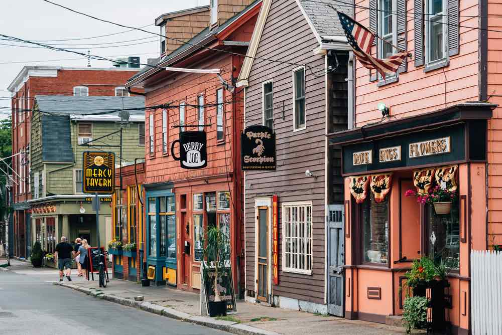 Top 7 Day Trips from Boston featured by top US travel blogger, Marcie in Mommyland: Derby Street, in Salem, Massachusetts