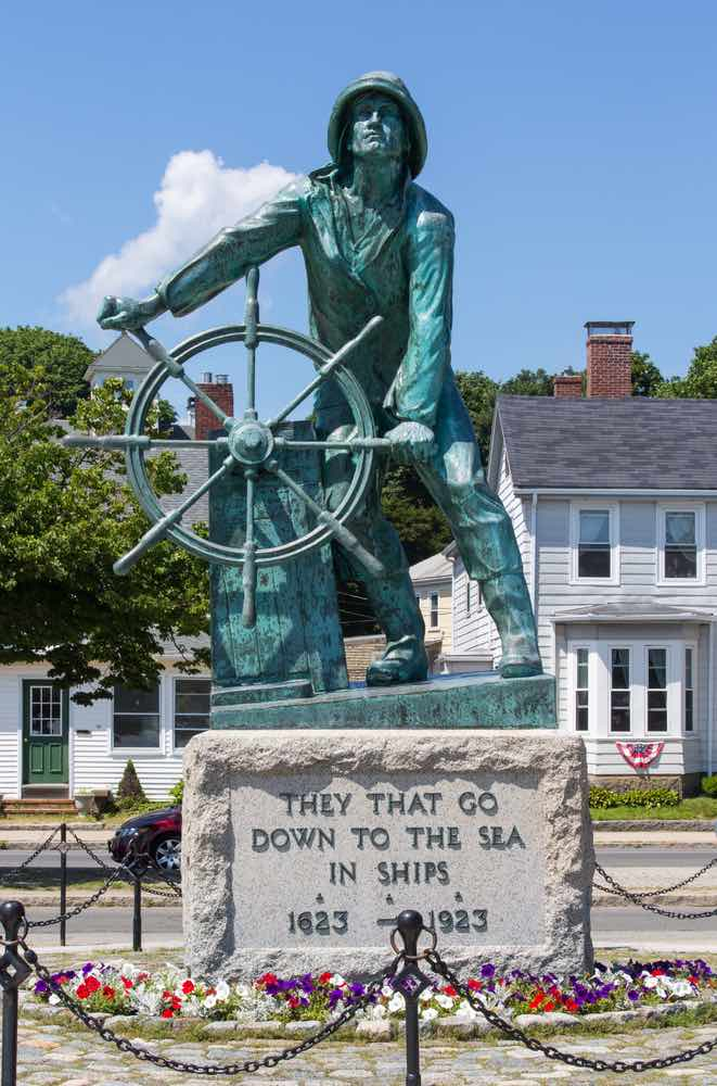 Top 7 Day Trips from Boston featured by top US travel blogger, Marcie in Mommyland: This is the Gloucester Fisherman's Memorial recognizing those who have lost their lives at sea.