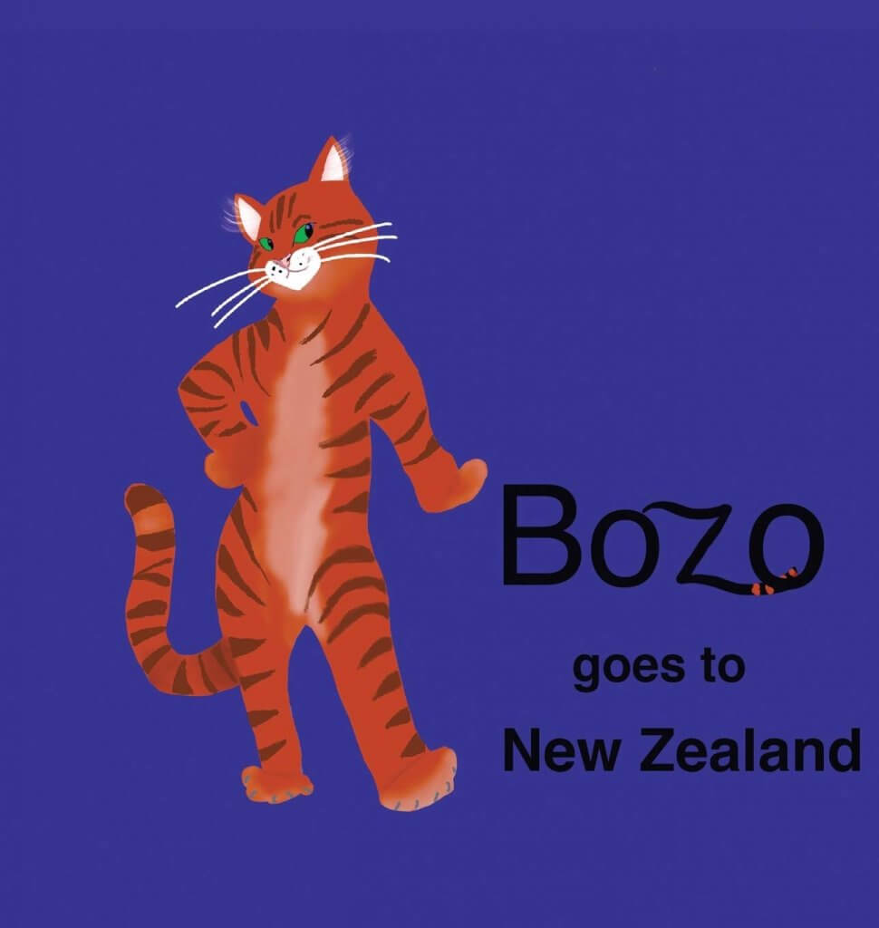 18 Fantastic New Zealand Children's Books featured by top travel blogger, Marcie in Mommyland: Bozo Goes to New Zealand, a kids book about New Zealand