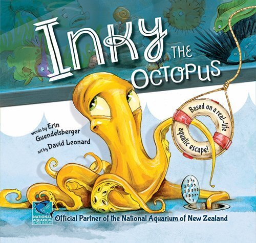18 Fantastic New Zealand Children's Books featured by top travel blogger, Marcie in Mommyland: Inky the Octopus is one of the best New Zealand Children's Books