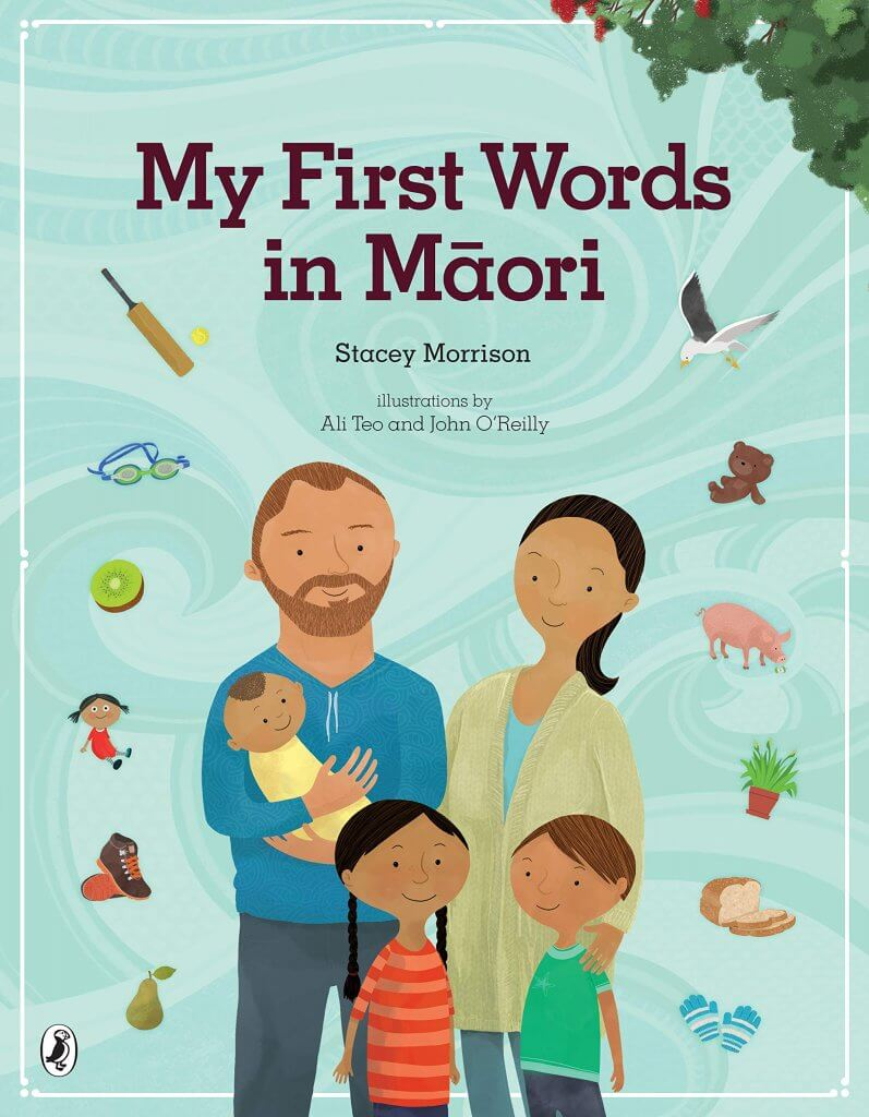 18 Fantastic New Zealand Children's Books featured by top travel blogger, Marcie in Mommyland: My First Words in Maori a kids book about New Zealand culture and language