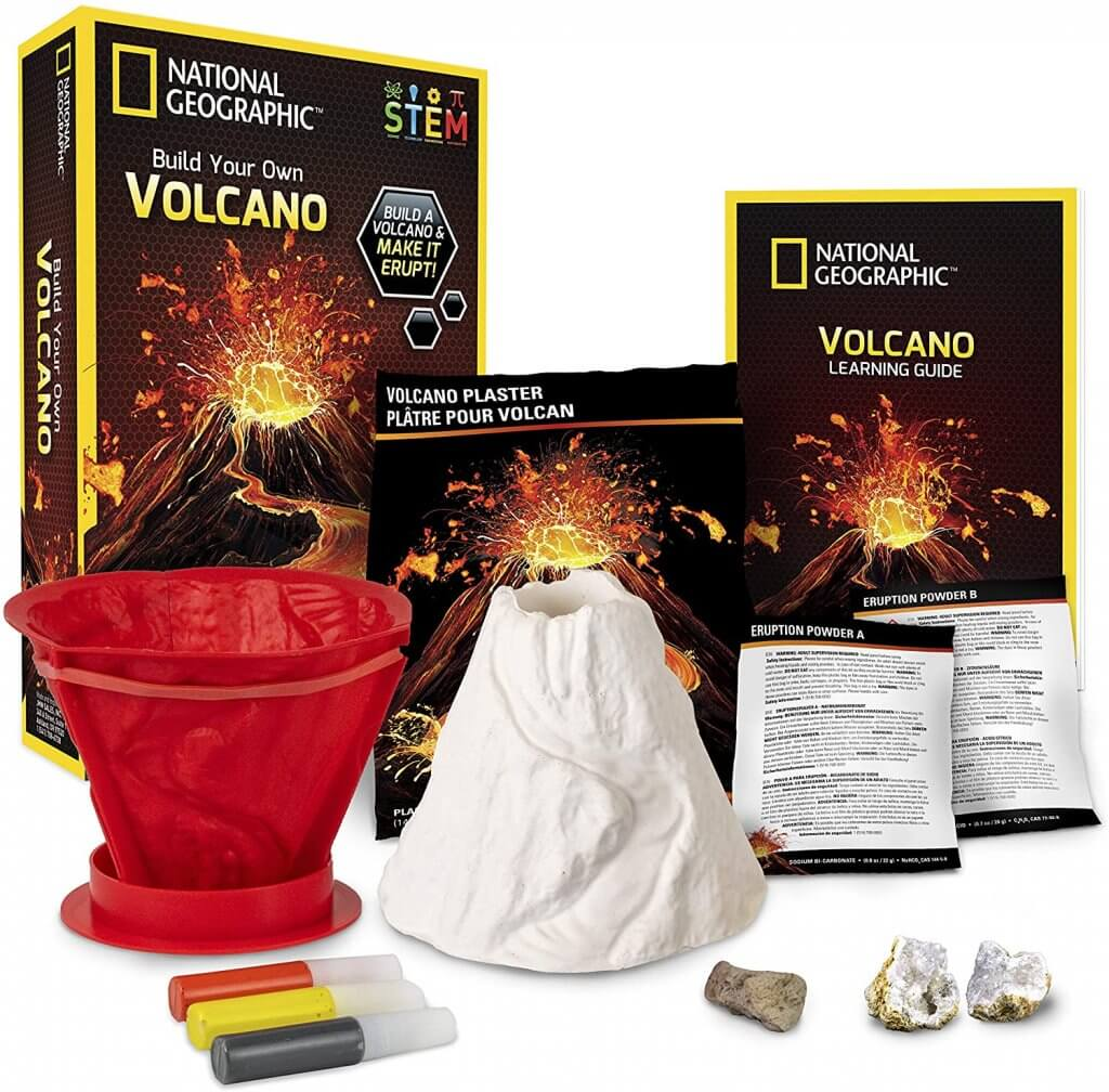 13 Best Science Kits for 6 Year Olds featured by top Seattle lifestyle blogger, Marcie in Mommyland: National Geographic Volcano Science Kit for 6 year olds