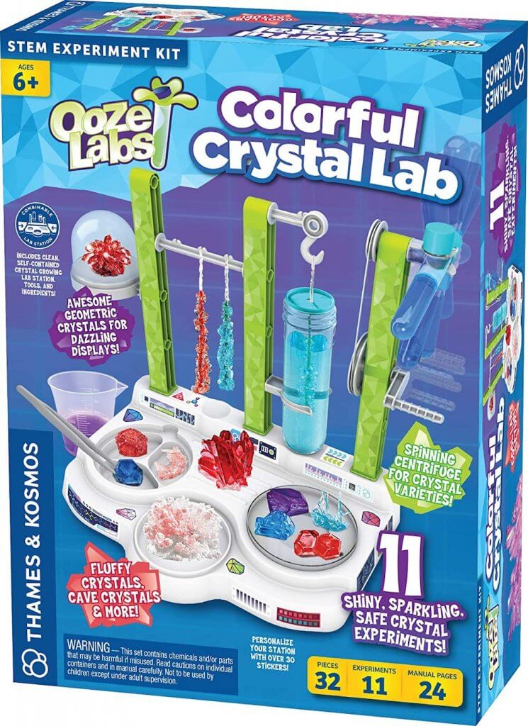 13 Best Science Kits for 6 Year Olds featured by top Seattle lifestyle blogger, Marcie in Mommyland: Ooze Labs Colorful Crystal Lab science kits for 6 year olds
