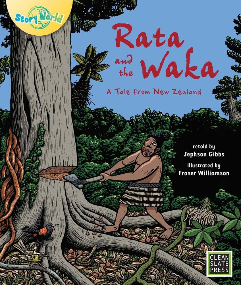18 Fantastic New Zealand Children's Books featured by top travel blogger, Marcie in Mommyland: Rata and the Waka a Tale from New Zealand is a kids book about Maori culture