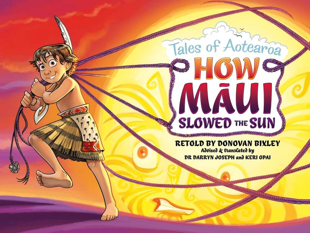 Best New Zealand Souvenirs featured by top travel blogger, Marcie in Mommyland: Tales of Aotearoa How Maui Slowed the Sun, a Maori children's book