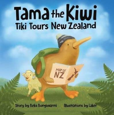 18 Fantastic New Zealand Children's Books featured by top travel blogger, Marcie in Mommyland: Tama the Kiwi Tiki Tours New Zealand in this adorable New Zealand kids book