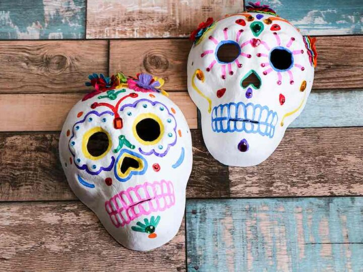 How to Make a Sugar Skull Craft for Kids