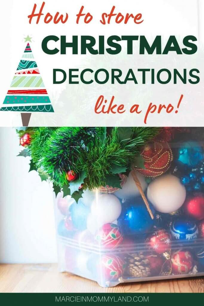 Christmas Decoration Storage Ideas and Tips featured by top Seattle lifestyle blogger, Marcie in Mommyland