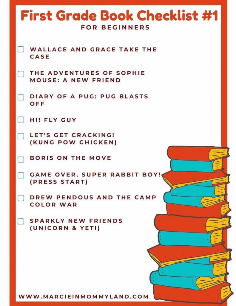 First Grade Book List Printable by top Seattle lifestyle blogger, Marcie in Mommyland