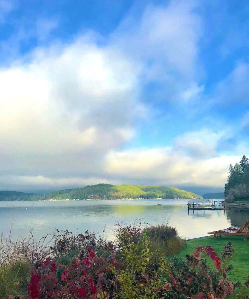Best Winter Weekend Getaways from Seattle featured by top Seattle travel blogger, Marcie in Mommyland: Image of Hood Canal in Winter
