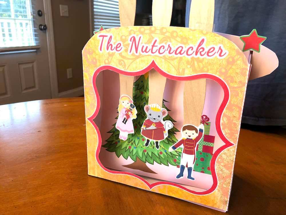 Nutcracker Craft: The Nutcracker Ballet Stage Kit with FREE Printables featured by top Seattle lifestyle blogger, Marcie in Mommyland
