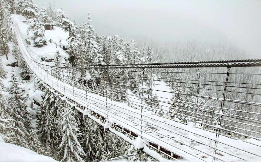 Best Winter Weekend Getaways from Seattle featured by top Seattle travel blogger, Marcie in Mommyland: Image of the Sea to Sky in Squamish in Winter
