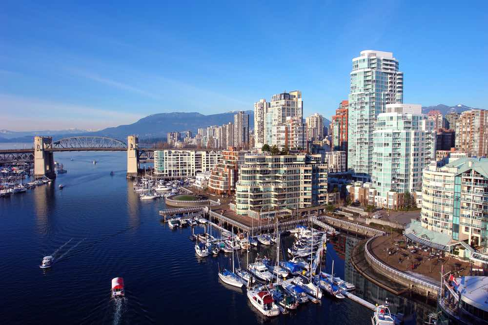 Best Winter Weekend Getaways from Seattle featured by top Seattle travel blogger, Marcie in Mommyland: Image of Vancouver Harbour in Winter
