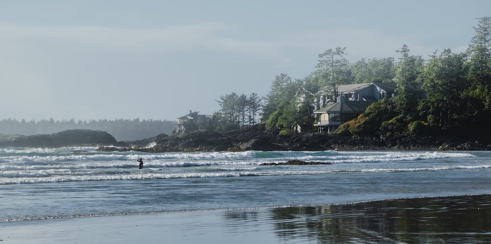 Best Winter Weekend Getaways from Seattle featured by top Seattle travel blogger, Marcie in Mommyland: Image of Tofino, British Columbia in Winter