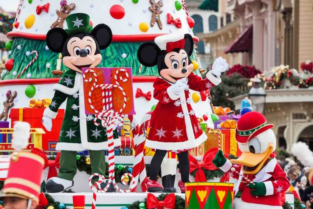 Don't miss the Disneyland Paris parade. Image of the Disneyland Paris Christmas parade featuring Mickey and Minnie Mouse