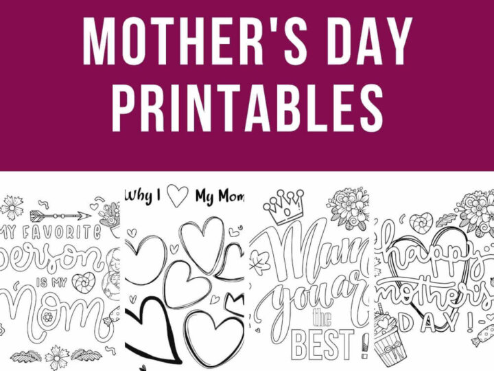 Free Printable Mother's Day Worksheets and Coloring Pages for Kids