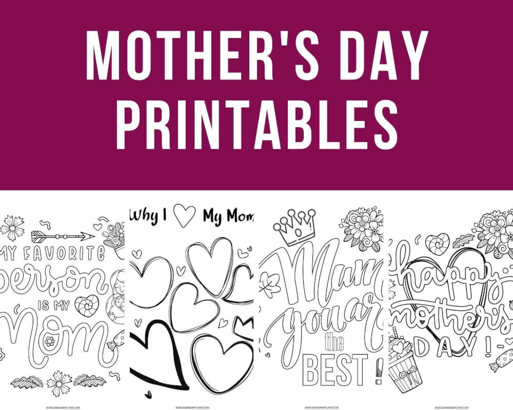Free Printable Mother S Day Worksheets And Coloring Pages For Kids Marcie In Mommyland