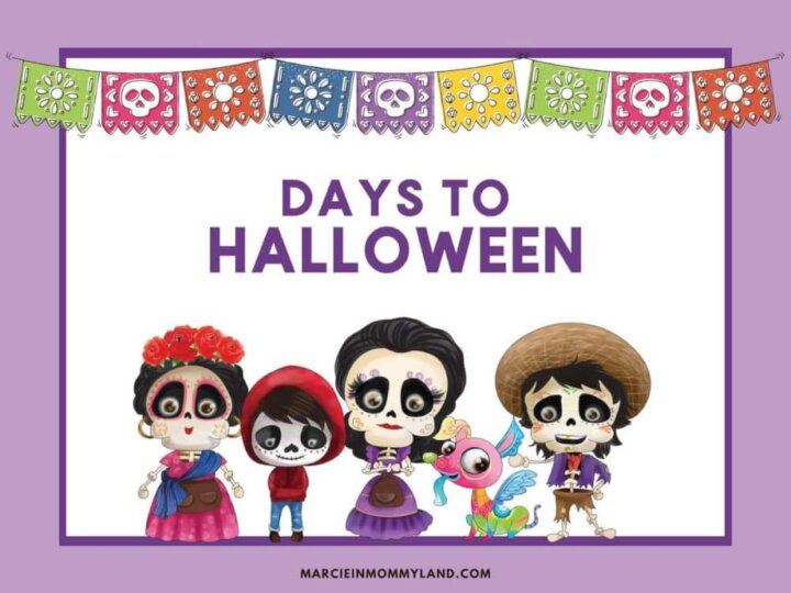 Easy Disney Halloween Countdown Chain Craft
