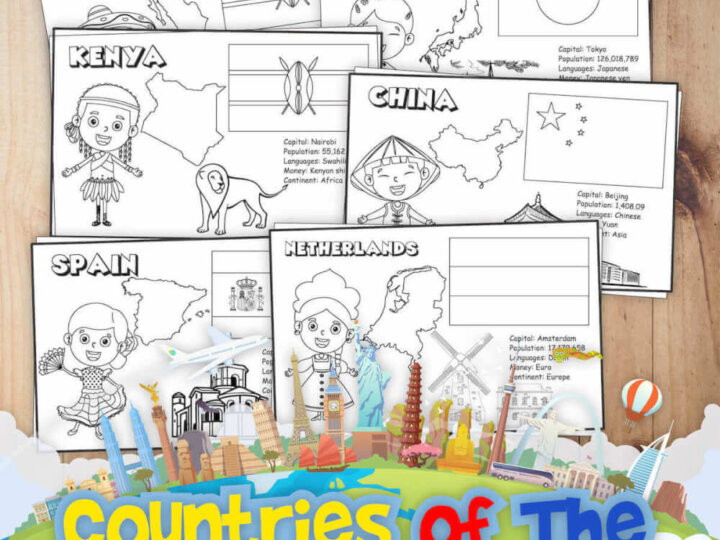 Get these 18 free printable coloring pages of people all around the world by top Seattle blog Marcie in Mommyland. Image of coloring sheets of countries.