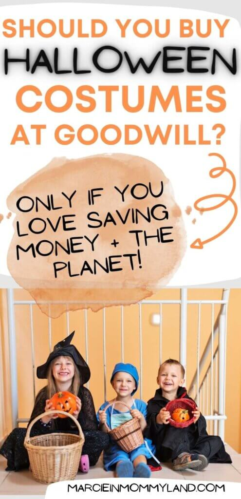Should you buy Halloween costumes at Goodwill this year? Absolutely if you love saving money and the planet!