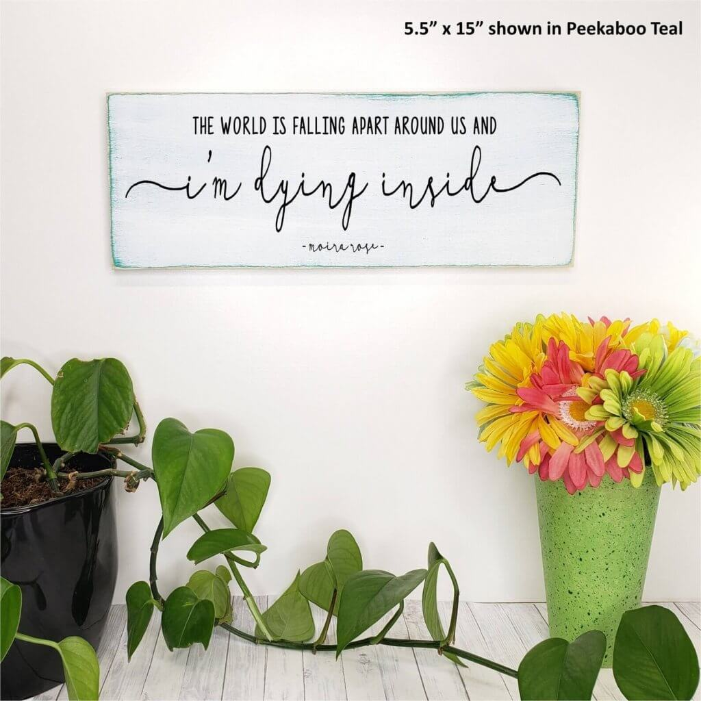 Top 27 Best Schitt's Creek Gifts from Etsy featured by top Seattle lifestyle blogger, Marcie in Mommyland: Schitt's Creek Sign