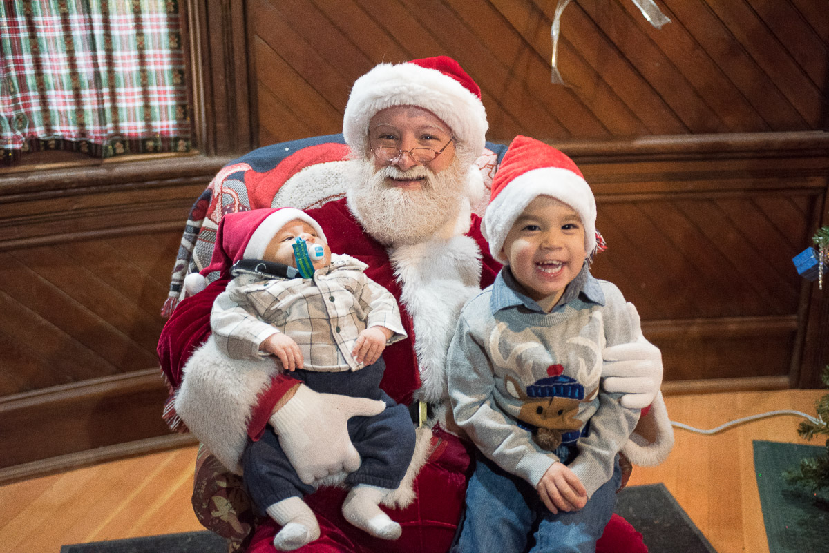 Santa at Northwest Railway Museum's Santa Train