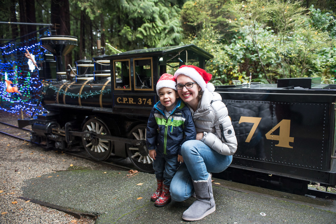 3 Things to Do in Vancouver BC during the Holidays featured by top Seattle travel blog, Marcie in Mommyland: Bright Nights at Stanley Park