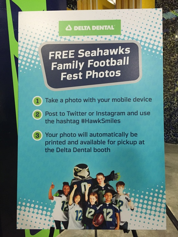 Delta Dental at Seahawks Family Football Fest