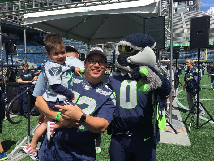 Blitz at Seahawks Family Football Fest