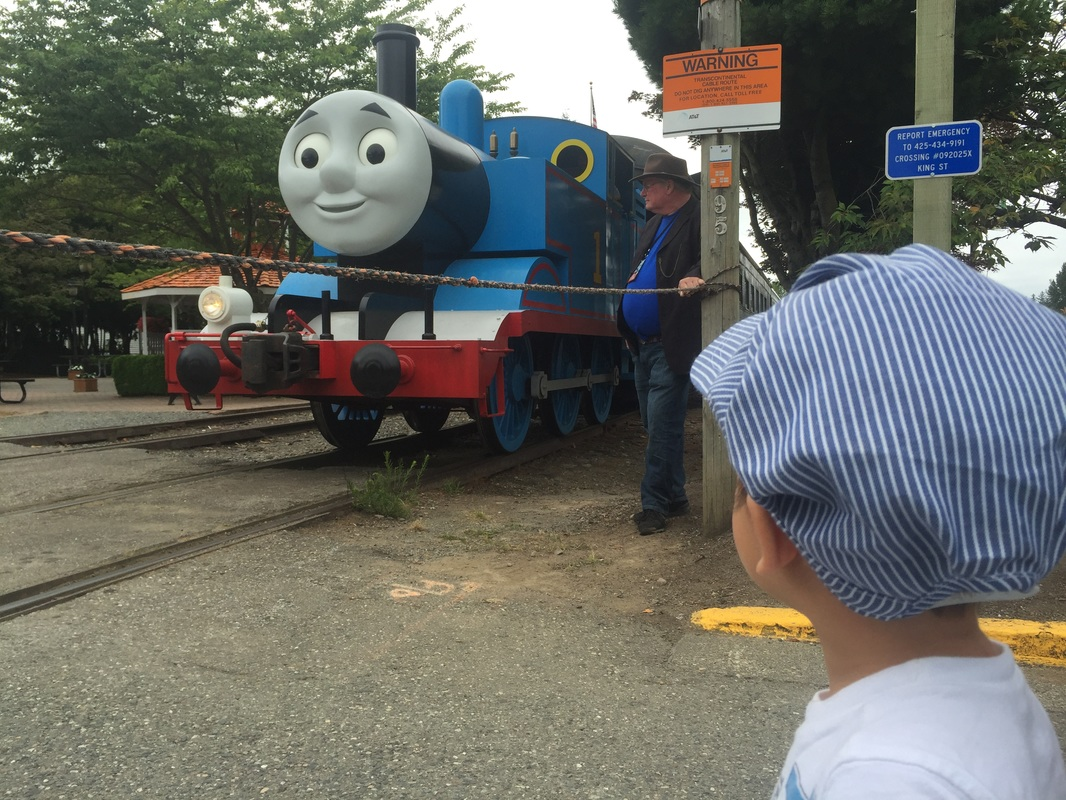 Thomas arrive at the NW Railway Museum in Snoqualmie, WA