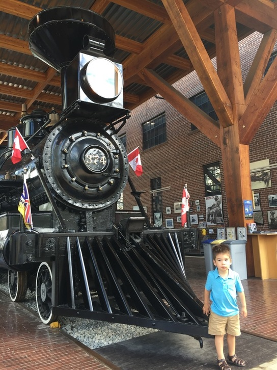 Photo of the Historic CPR 374 Locomotive in Vancouver, BC Canada which is a fun thing to do in Vancouver, BC with kids #vancouver #yaletown #locomotive #train #canada #britishcolumbia #pnw
