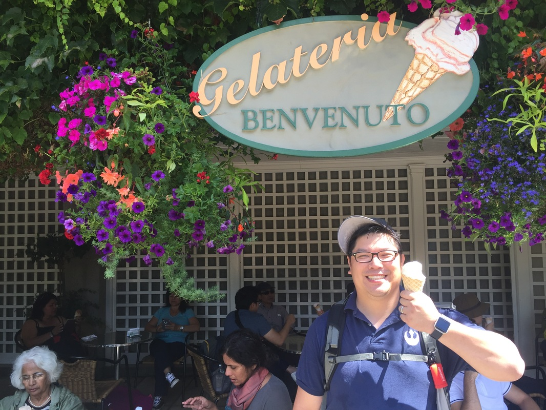 Gelateria Benvenuto at Butchart Gardens in Victoria, BC