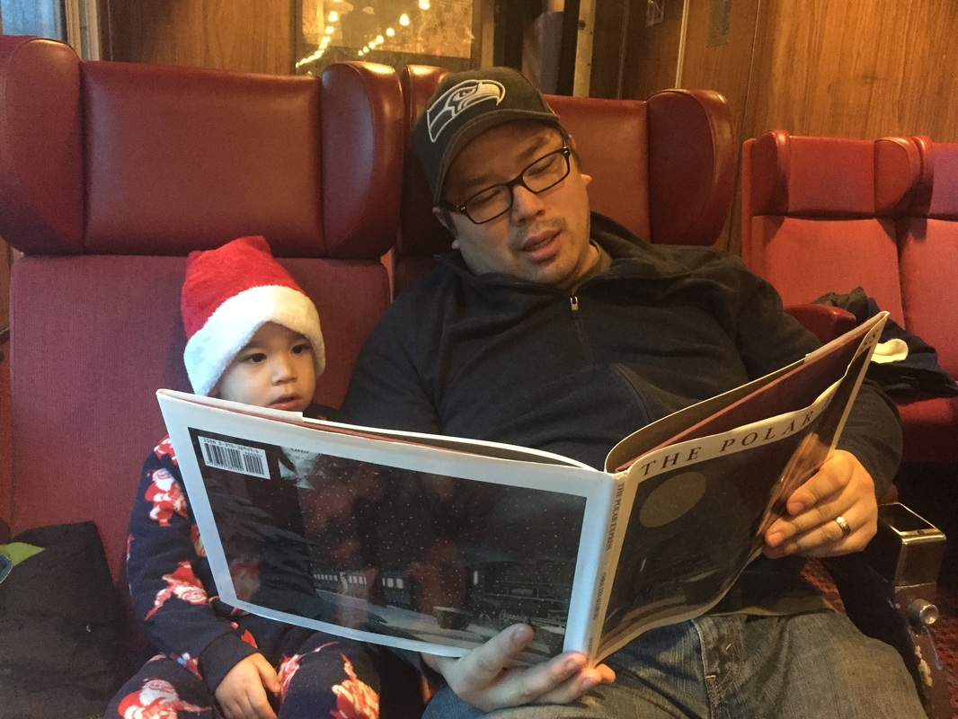 Reading The Polar Express in Squamish, BC