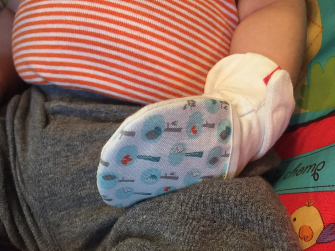 Goumikids Mitts for Babies: Baby Essentials for second baby, featured by top Seattle mom blogger, Marcie in Mommyland