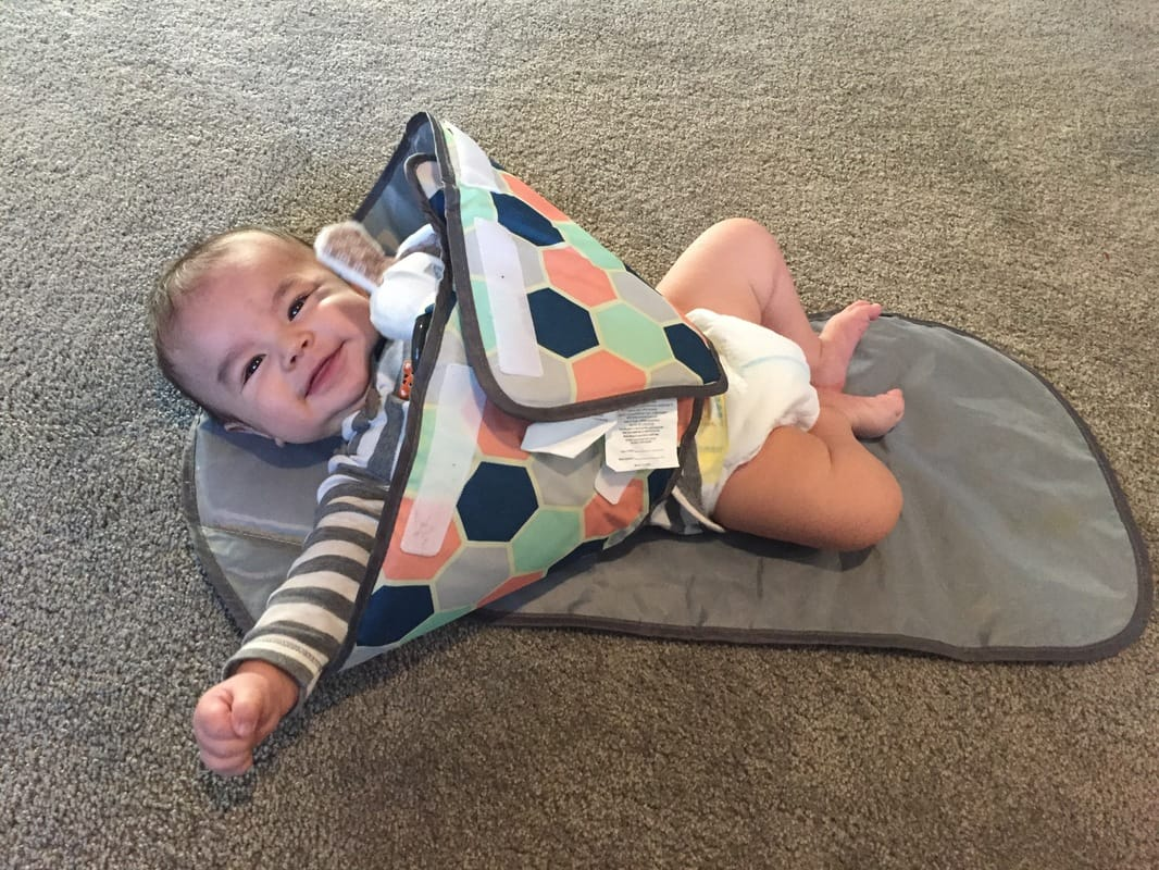 SnoofyBee Changing Pad: Baby Essentials for second baby, featured by top Seattle mom blogger, Marcie in Mommyland