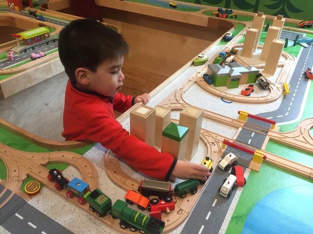 KidsQuest Museum Train Table