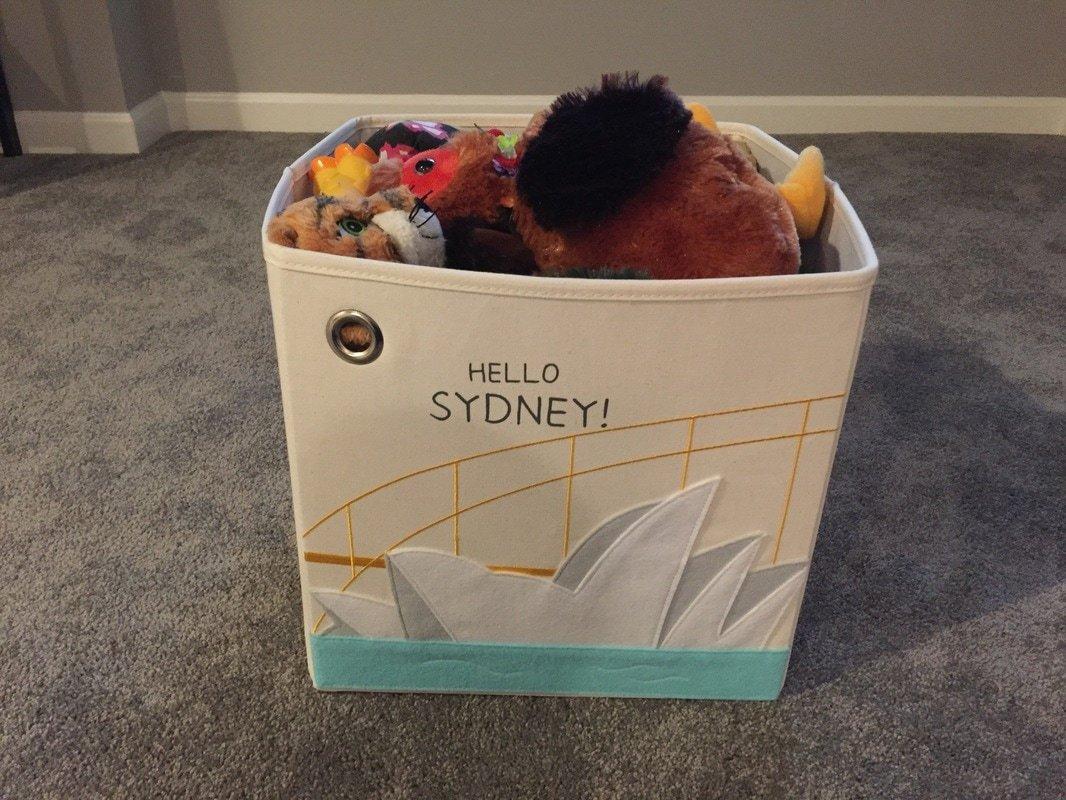 Kaikai & Ash toy storage bin