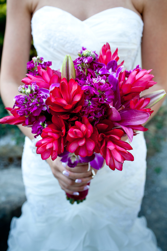 Photo of Hawaiian flowers used at a Seattle wedding. #weddingflowers #diywedding #seattleflorist