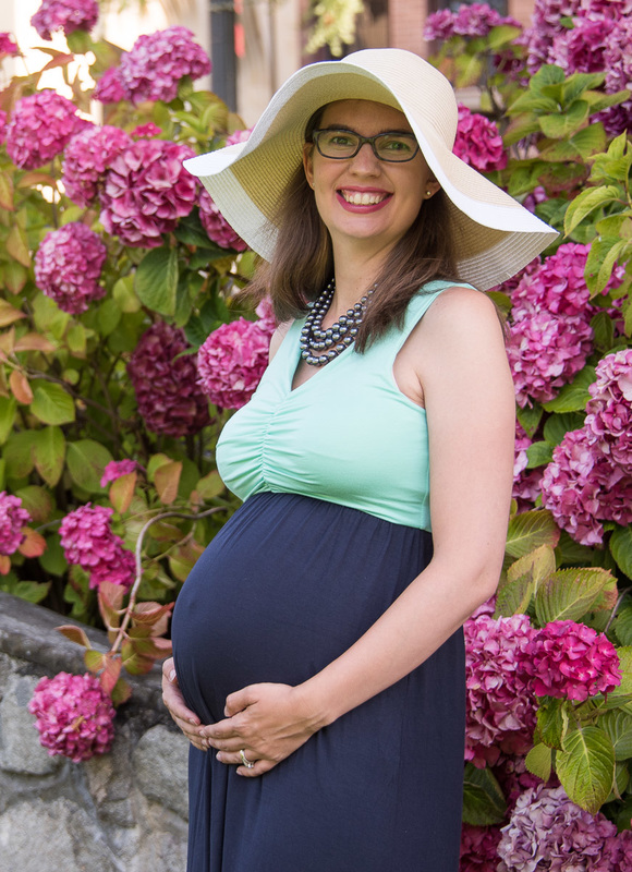 PinkBlush Maternity dress on Babymoon in Victoria, BC
